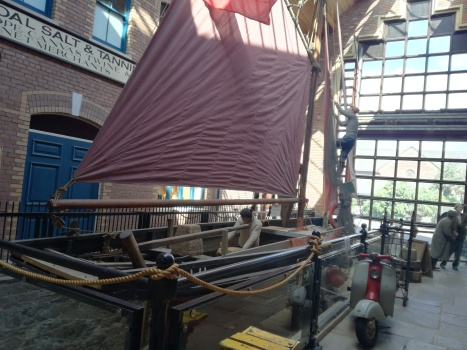 Replica fishing boat