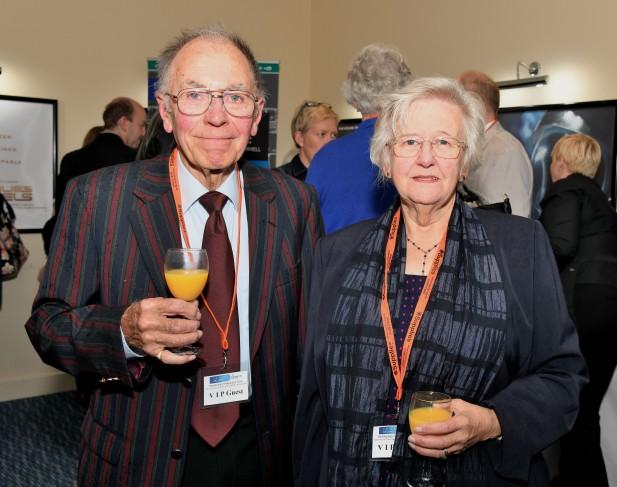 Ex-CWG office worker Vida Lenton, with her husband