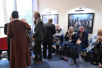 The VIP guests await the start of the screening