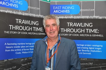 Dr Robb Robinson arrives at the drinks reception