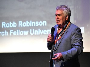 Dr Robb Robinson delivers his lecture